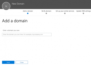 Adaugare domeniu Office365
